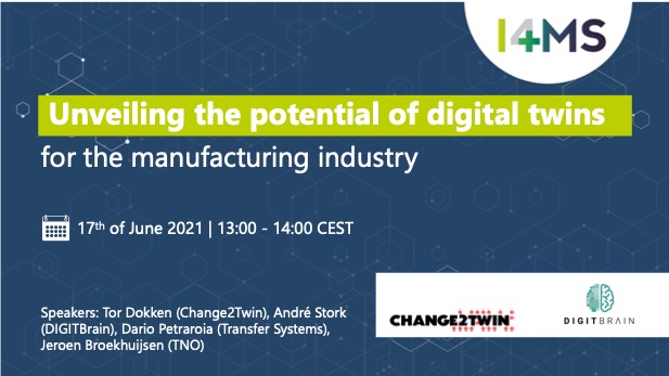 DIGITbrain Webinar Webinar - unveiling the potential of digital twins for the manufacturing industry